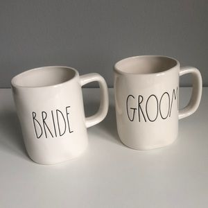 Rae Dunn Bride & Groom Coffee Mug Set